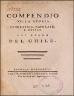 Cubierta para Compendio della storia geografica, naturale, e civile del regno del Chile