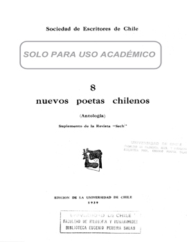 Cubierta para 8 nuevos poetas chilenos: antología