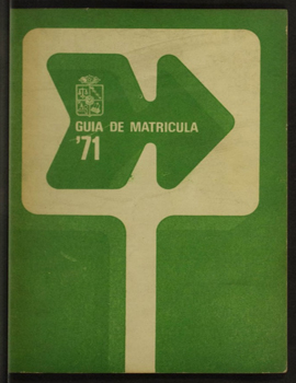 Cubierta para Guía Matrícula: año académico 1971