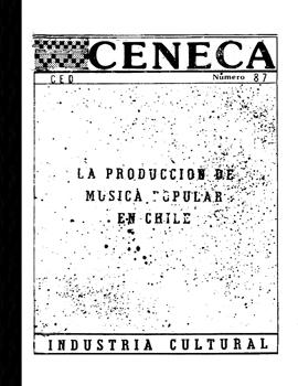 Cubierta para La producción de música popular en Chile