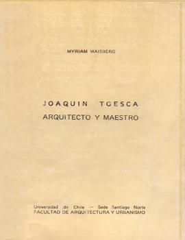Cubierta para Joaquin Toesca arquitecto y maestro