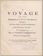 Cubierta para A voyage to the Kingdom of Chili in America: performed by Henry Brewer, and Elias Herckeman, in the years 1642, and 1643 ; with a description of the Isle of Formosa and Japan : [p. 505-539]