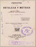 Cubierta para Principios de la ortolojia y métrica de la lengua castellana