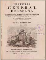 Cubierta para Historia general de España: tomo primero