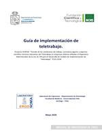 Cubierta para Guía de implementación de teletrabajo