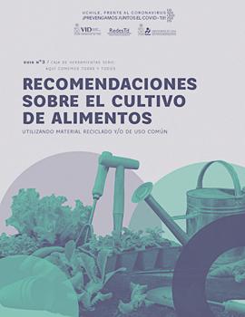 Cubierta para Recomendaciones sobre el cultivo de alimentos utilizando material reciclable y/o de uso común
