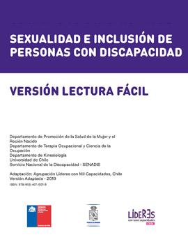 Cubierta para Sexualidad e inclusión de personas con discapacidad: versión lectura fácil