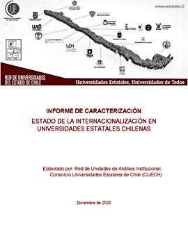 Cubierta para Informe de caracterización: Estado de la Internacionalización en Universidades Estatales Chilenas