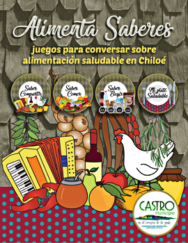 Cubierta para Alimenta saberes: juegos para conversar sobre alimentación saludable en Chiloé