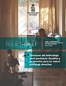 Cubierta para Policy Brief: Tensiones del teletrabajo post pandemia: desafíos y propuestas para un nuevo marco de derechos