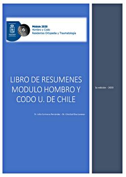 Cubierta para Libro de resúmenes : módulo hombro y codo, U. de Chile