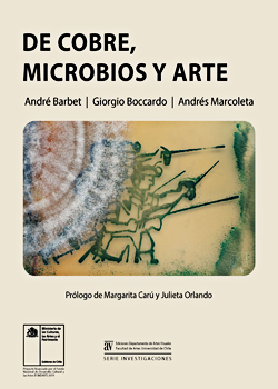 Cubierta para De cobre, microbios y arte
