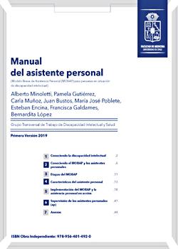 Cubierta para Manual de asistente personal: Modelo Breve de Asistencia Personal (MOBAP) para personas en situación de discapacidad intelectual
