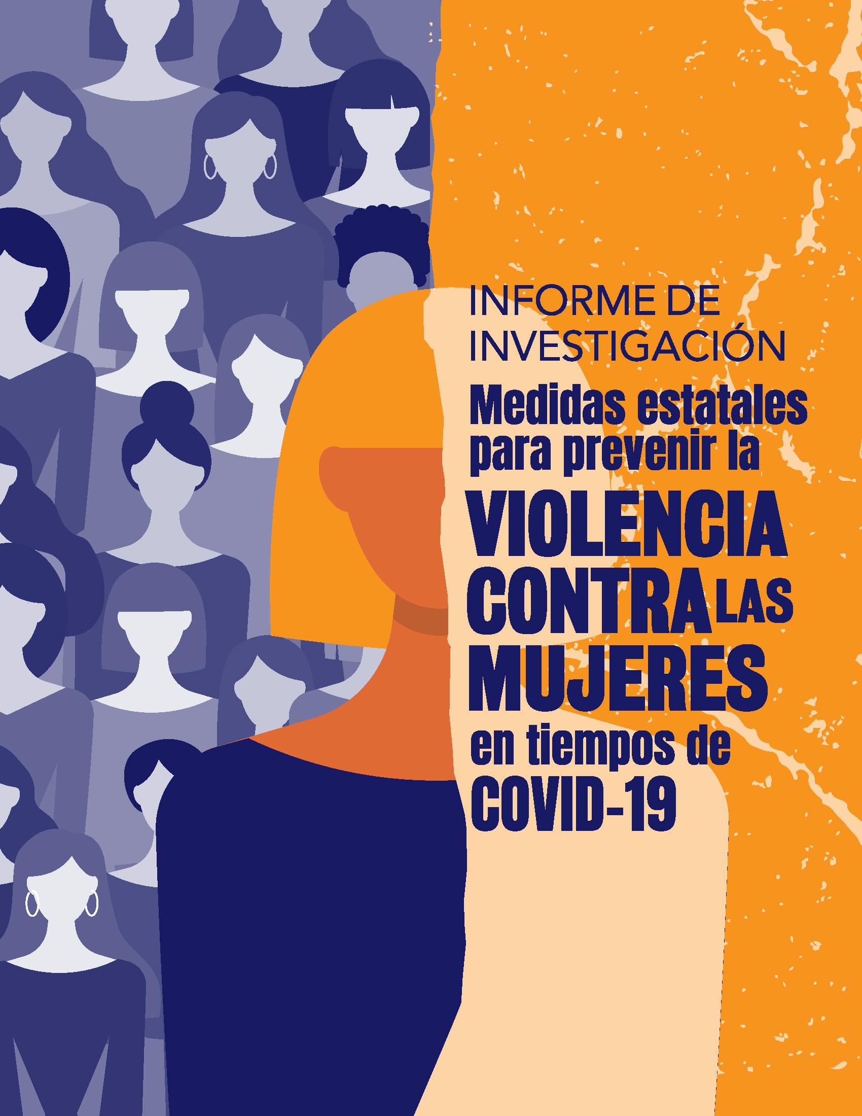 Cubierta para Medidas estatales para prevenir la violencia contra las mujeres en tiempos de COVID-19: informe de investigación