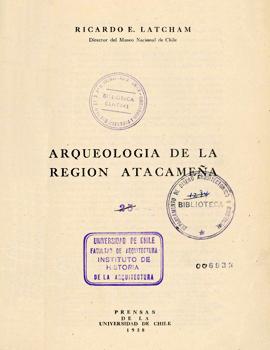 Cubierta para Arqueología de la región atacameña