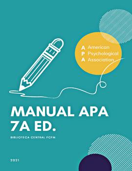 Cubierta para Manual resumen de la 7a edición APA: uso para fines de docencia e investigación