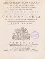 Cubierta para Commentaria in Jus Ecclesiasticum Universum: tomus tertius