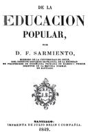 Cubierta para De la educación popular