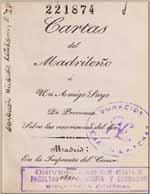 Cubierta para Cartas del Madrileño a un amigo suyo de provincia: sobre las ocurrencias del día