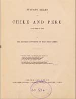 Cubierta para Sixteen years in Chile and Peru: from 1822 to 1839
