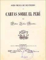 Cubierta para Ocho meses de destierro, o, Cartas sobre el Perú