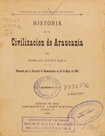 Cubierta para Historia de la civilización de Araucanía: volumen 1