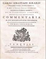 Cubierta para Commentaria in Jus Ecclesiasticum Universum: tomus segundus