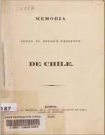 Cubierta para Memoria sobre el estado presente de Chile