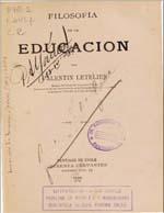 Cubierta para Filosofia de la educación