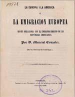 Cubierta para La Europa i la América, o, La emigración europea: en sus relaciones con el engrandecimiento de las repúblicas americanas