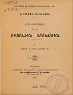 Cubierta para Los oríjenes de las familias chilenas