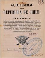 Cubierta para Guia jeneral de la República de Chile: correspondiente al año de 1847