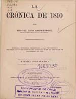 Cubierta para La crónica de 1810: tomo primero