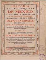 Cubierta para Historia de la conquista de Mexico: poblacion, y progressos de la America septentrional : conocida por el nombre de Nueva España