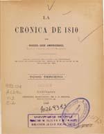 Cubierta para La crónica de 1810: tomo tercero