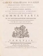 Cubierta para Commentaria in Jus Ecclesiasticum Universum: tomus quartus