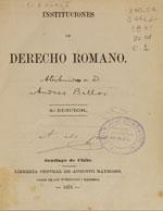 Cubierta para Instituciones de derecho romano