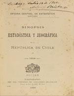 Cubierta para Sinopsis estadística y jeográfica de la República de Chile en 1899