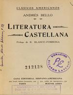 Cubierta para Literatura castellana