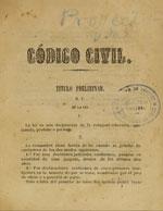 Cubierta para Proyecto de código civil: libro I, de las personas