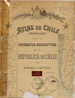 Cubierta para Atlas de Chile arreglado para la jeografía descriptiva de la República de Chile