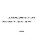 Cubierta para La deuda externa en Chile entre 1822 y la década de 1980