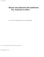 Cubierta para Hacia una historia del ambiente en América Latina: de las culturas aborígenes a la crisis ecológica actual