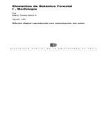 Cubierta para Elementos de botánica forestal: I. Morfología