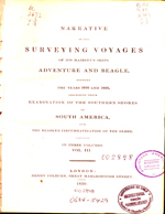 Cubierta para Narrative of the surveying voyages of his majesty's ships Adventure and Beagle (vol.3): between the years 1826 and 1836 : describing their examination of the southern shores of South America, and the Beagles's circumnavigation of the globe