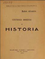 Cubierta para Cuestiones modernas de historia