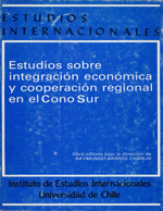Cubierta para Estudios sobre integración económica y cooperación regional en el Cono Sur