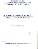 Cubierta para La política exterior de China hacia el Tercer Mundo