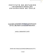 Cubierta para Las relaciones internacionales en el mundo contemporáneo
