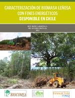 Cubierta para Caracterización de biomasa leñosa con fines energéticos disponible en Chile